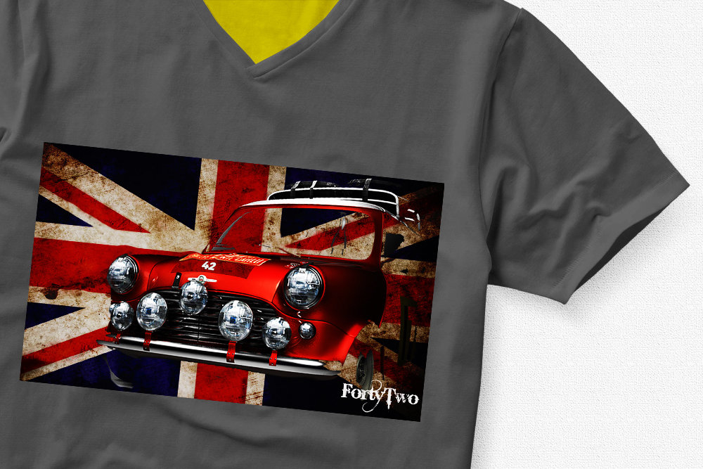 Mini Cooper UK Flag Mini Flag Tshirt