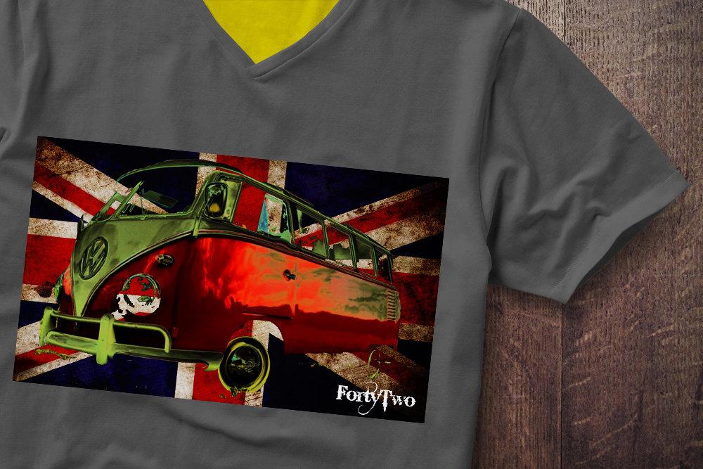 Samba UK Flag VW Flag Samba UK Tshirt