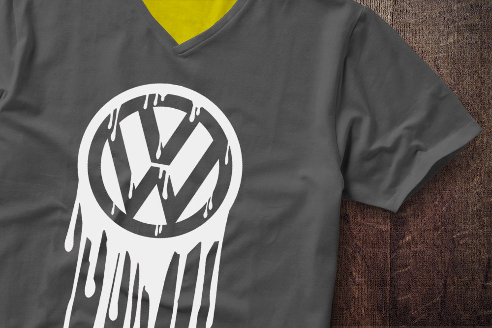 VW Badge Drip VW Badge Drip Tshirt