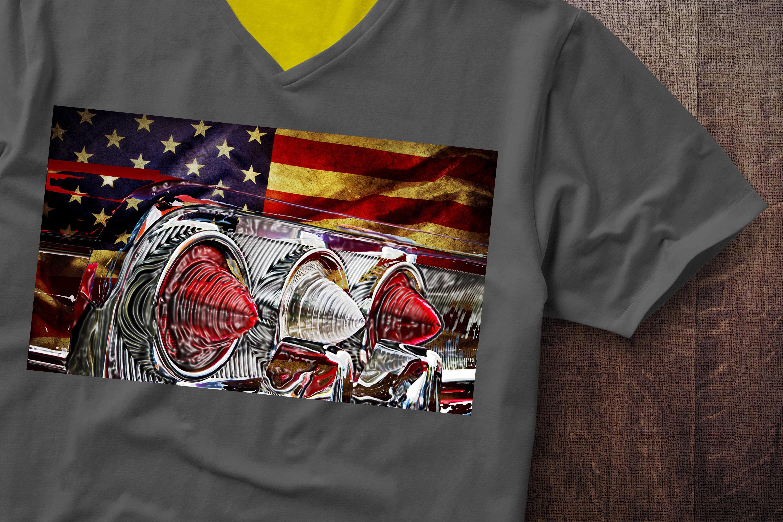 Impala Fender USA Flag Chevrolet Flag Tail Lights Tshirt