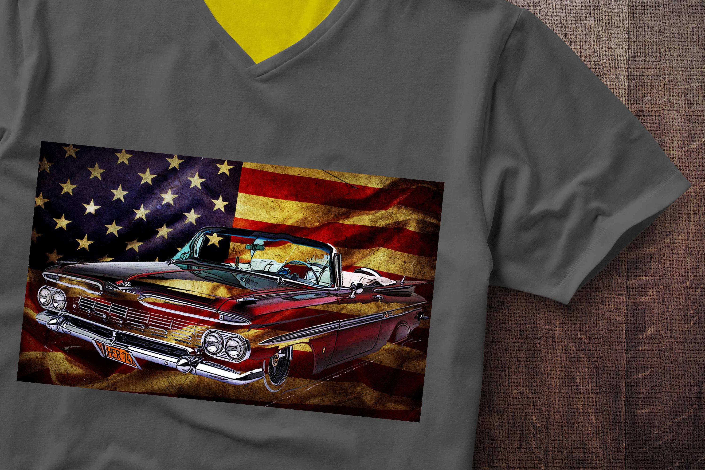 Impala USA Flag Chevrolet Flag Impala Tshirt