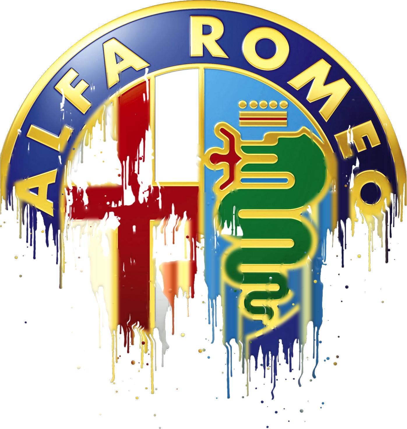 Alfa Romeo Badge Liquid Metal