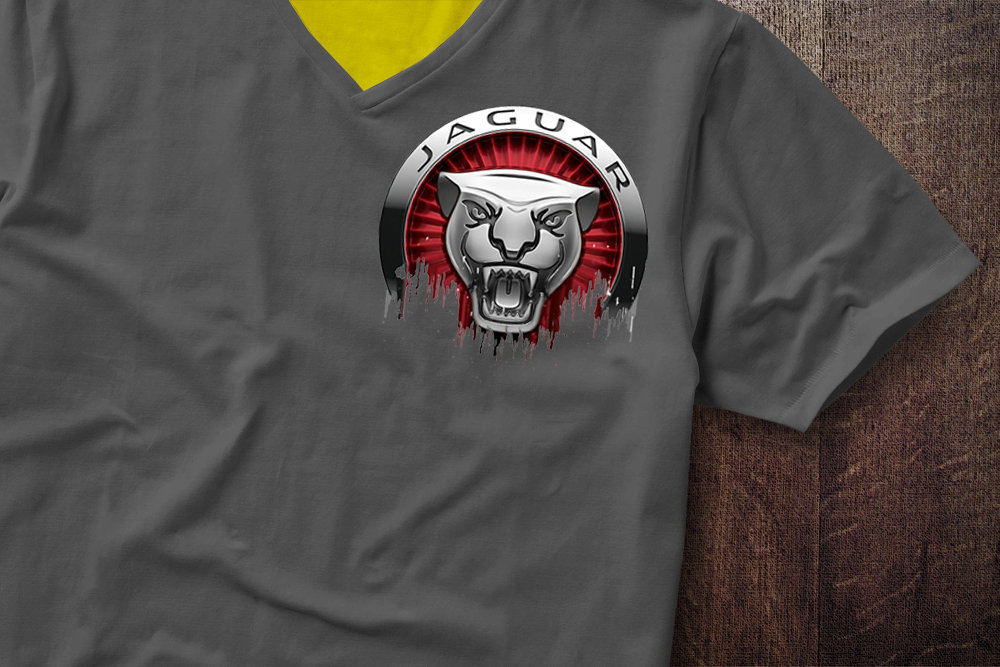 Jaguar Badge Liquid Metal Jaguar Badge Liquid Metal Tshirt