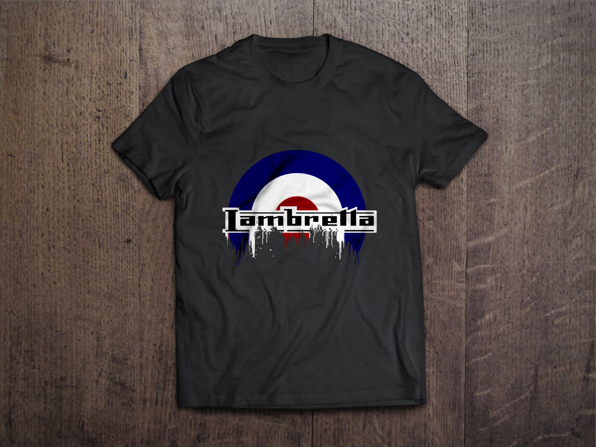 Lambretta Badge Liquid Metal Lambretta Liquid Metal Badge Tshirt