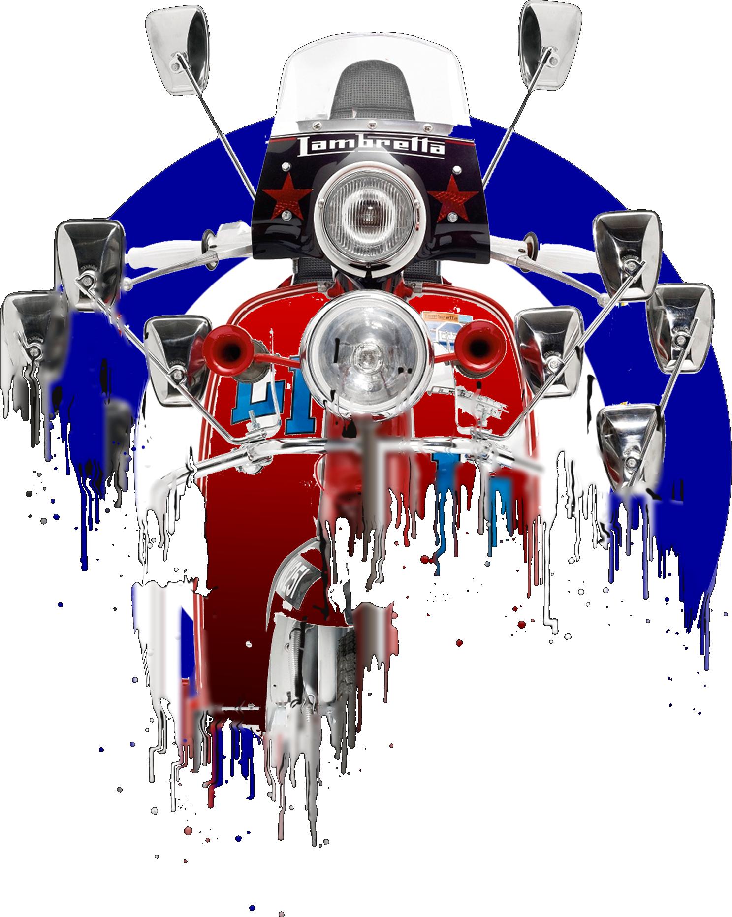 Lambretta Scooter Liquid Metal