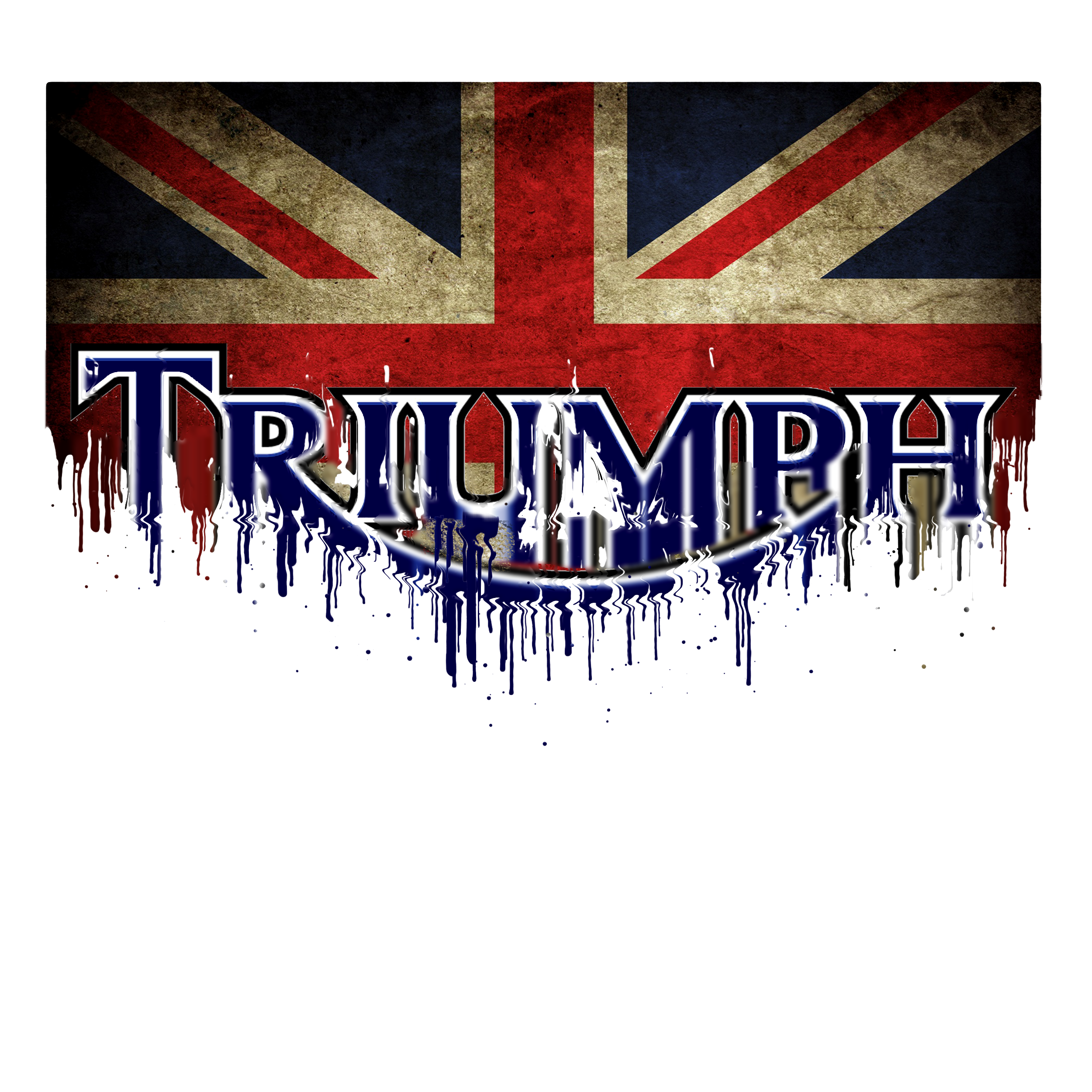 Triumph Flag Liquid Metal