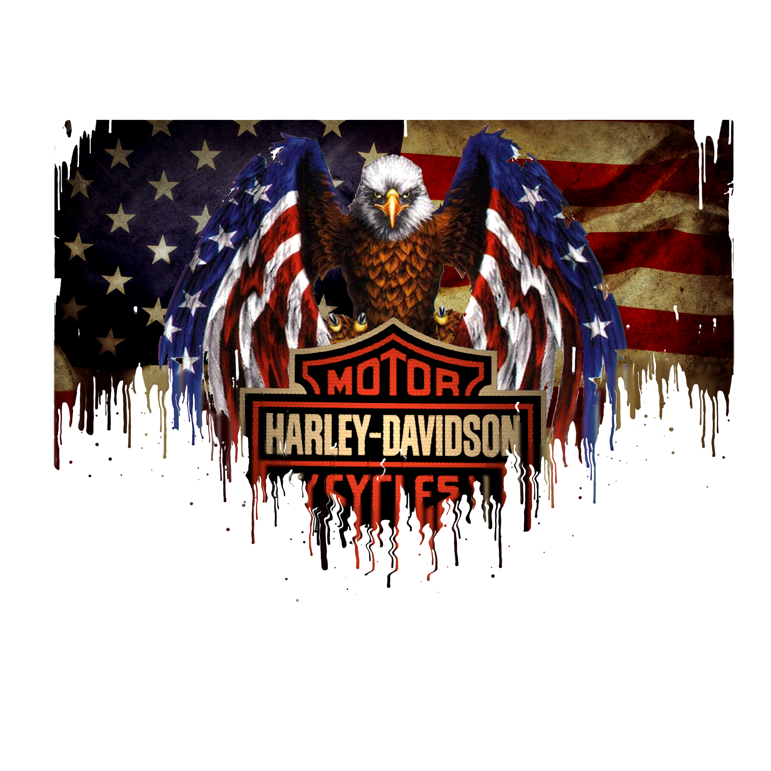 Harley Davidson Liquid Metal Flag