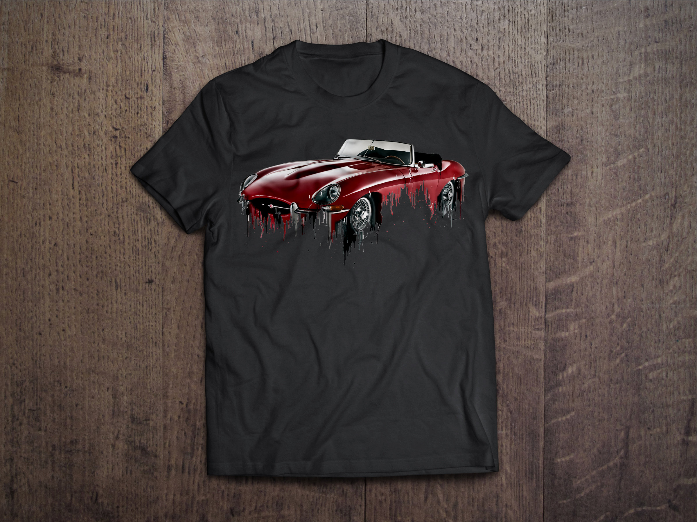 Jaguar E Type Liquid Metal Jaguar E Type Liquid Metal tshirt