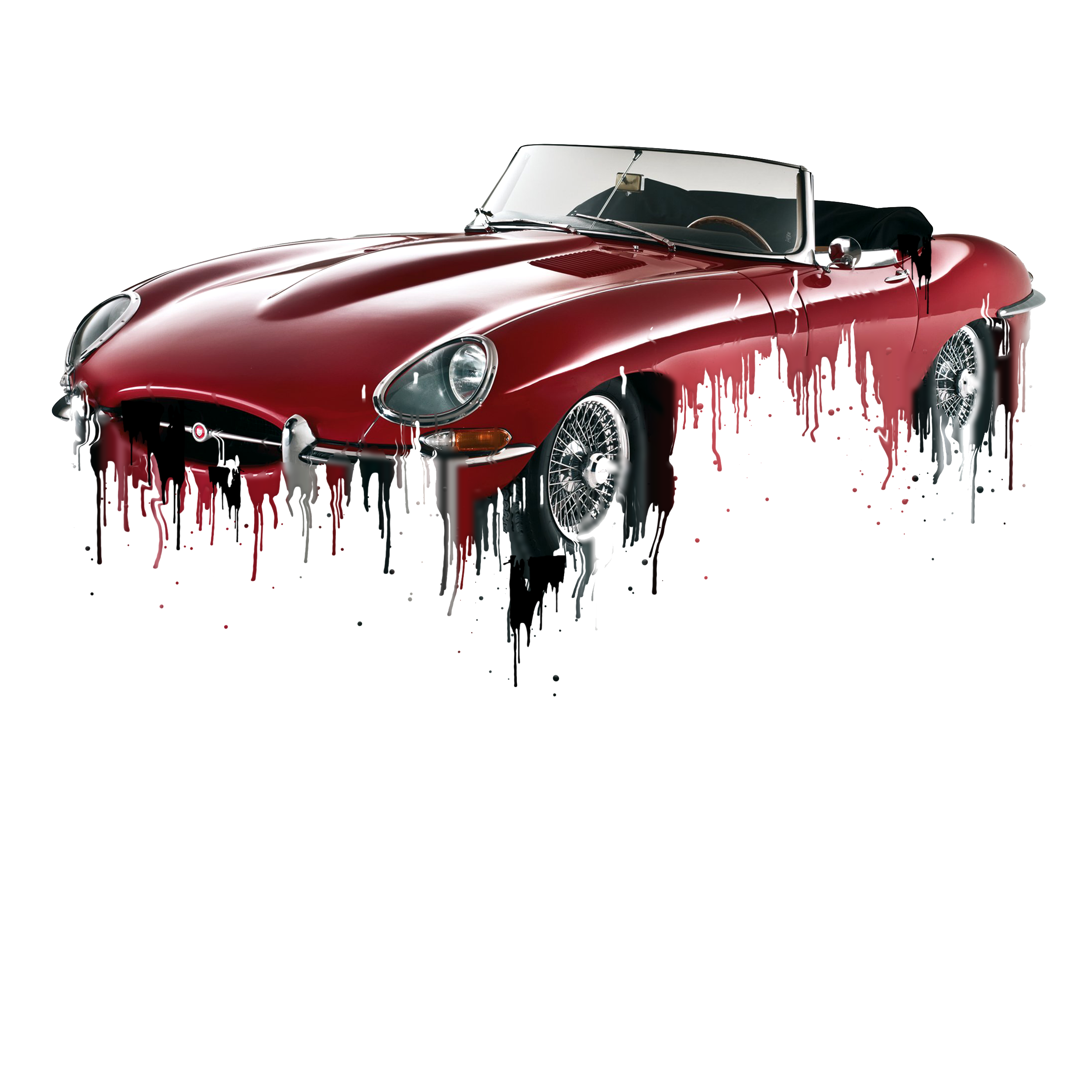 Jaguar E Type Liquid Metal