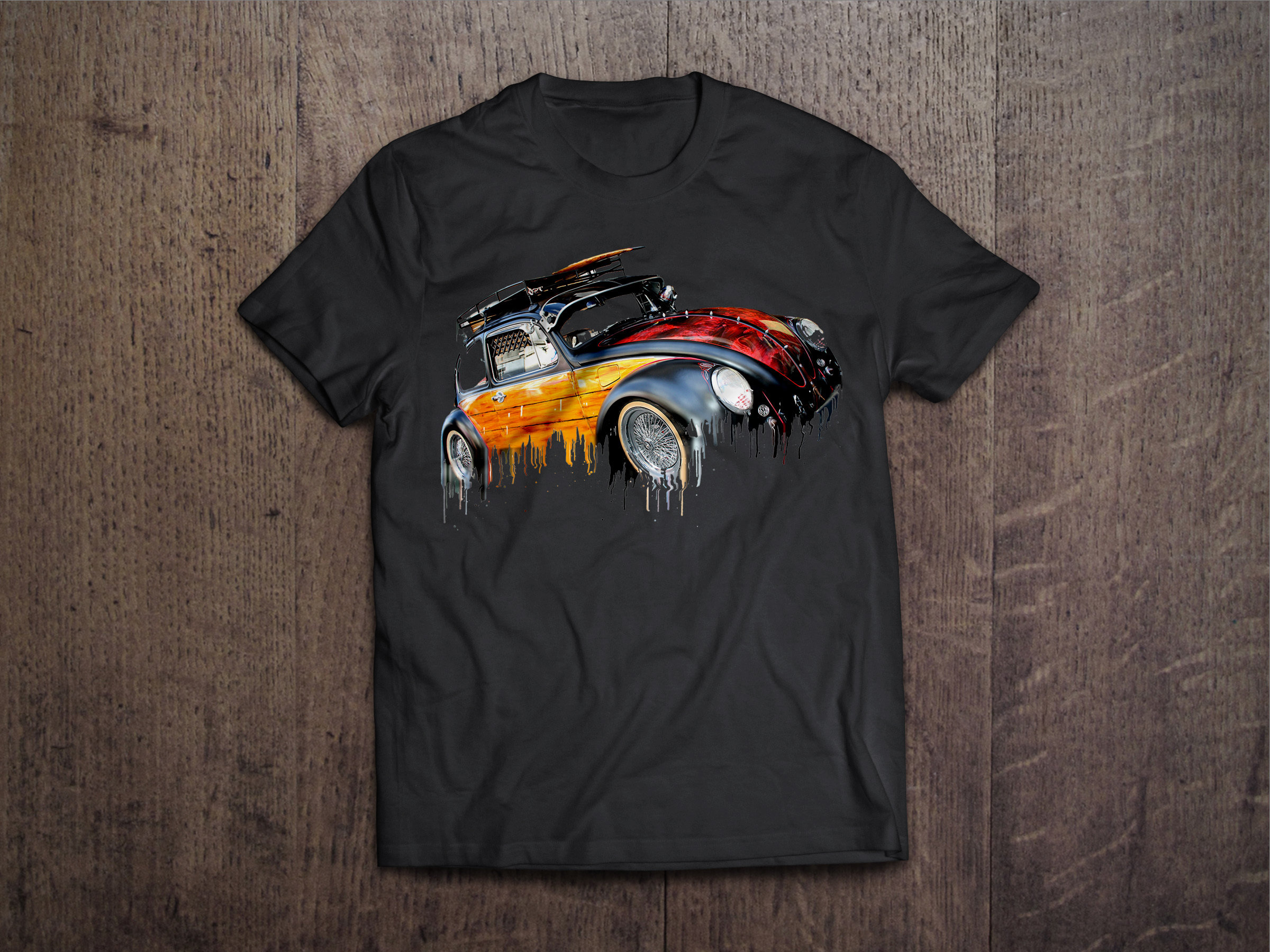 VW Beetle Liquid Metal VW Liquid Metal Beetle Tshirt