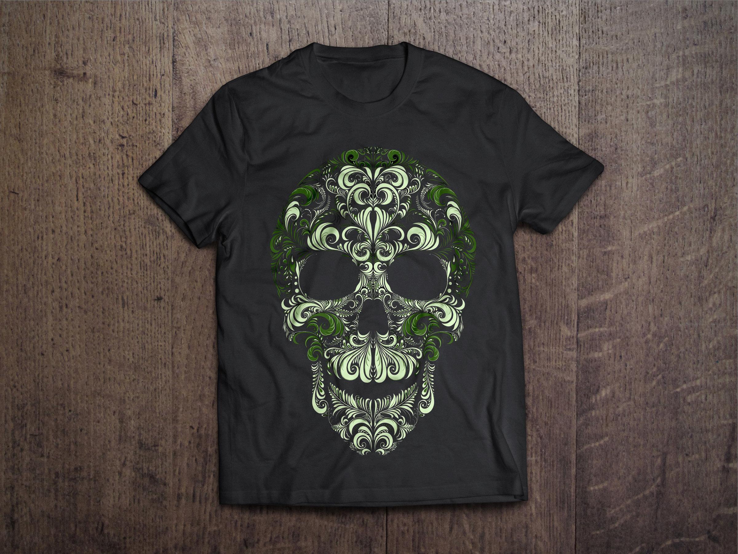 Sugar Skull Pattern Chest Candy Sugar Skull Pattern Tshirt