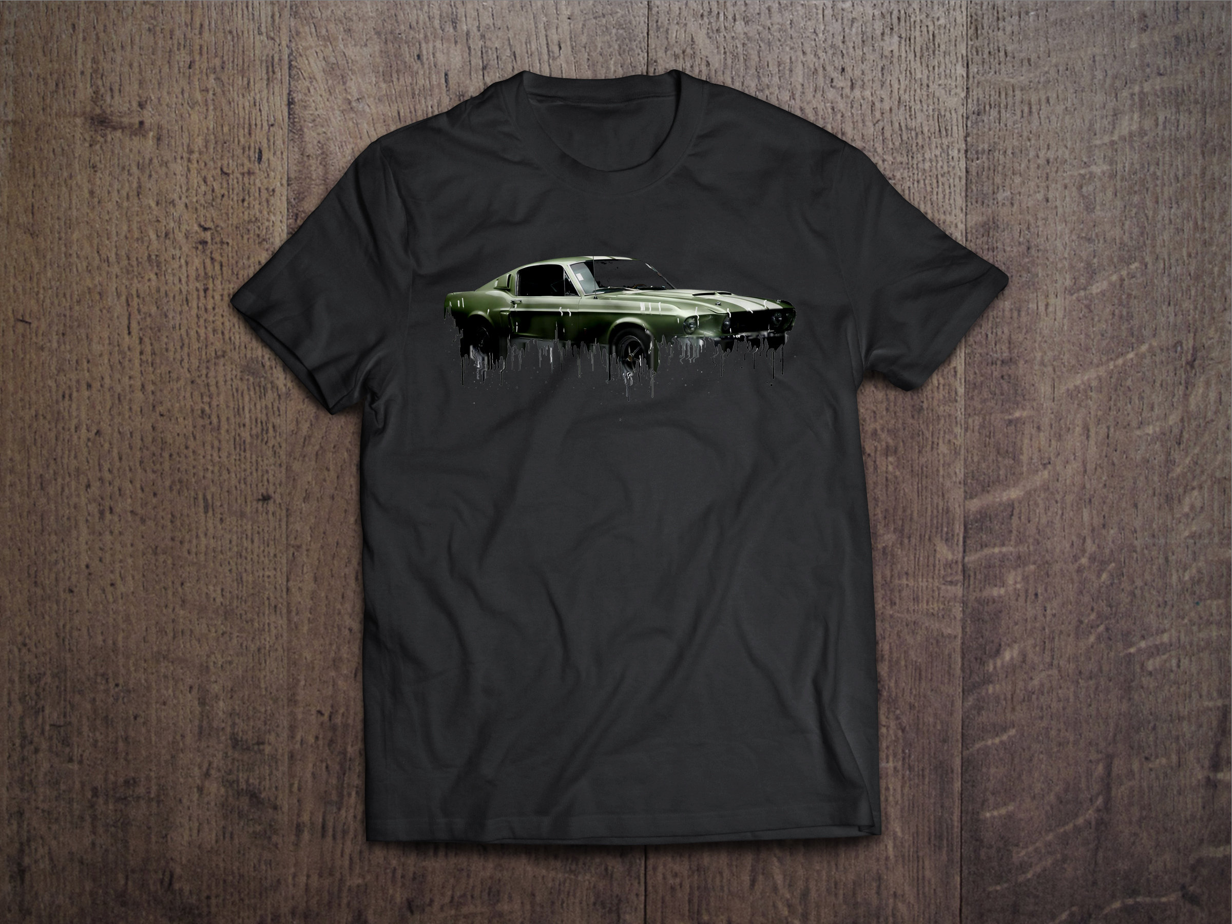 Shelby Mustang Liquid Metal Ford Liquid Metal Tshirt Mustang