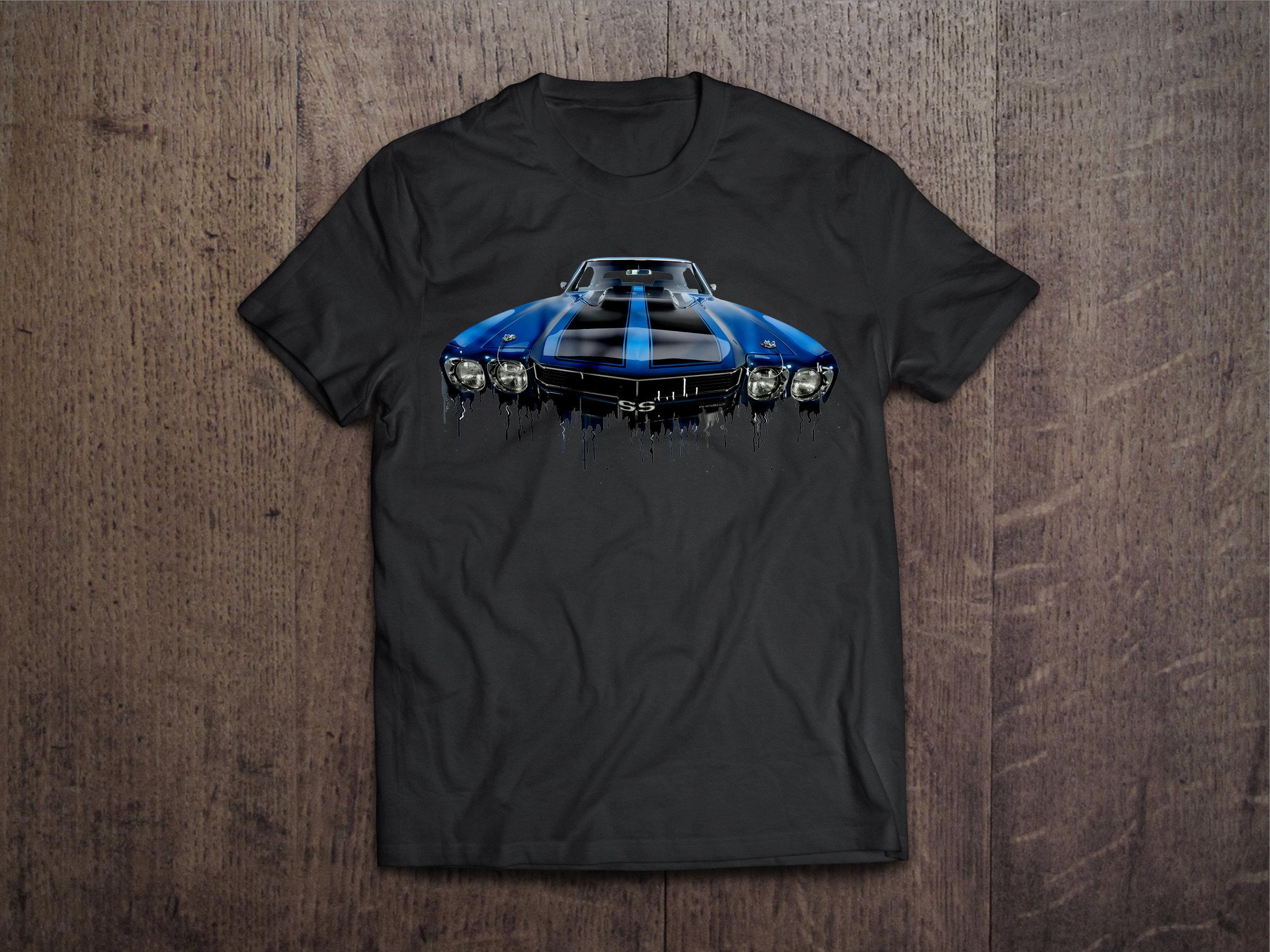 Chevrolet Chevelle Liquid Metal Chevrolet Liquid Metal Chevelle Tshirt