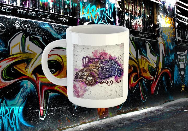 VW Beetle Street Art VW Street Art Beetle Mug