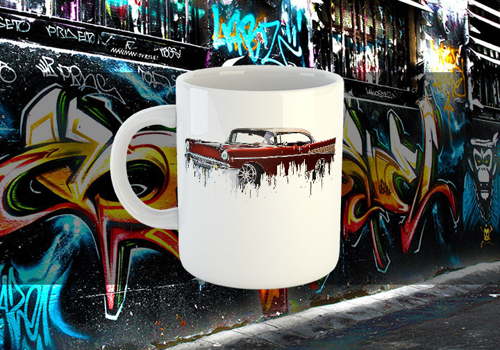 Chevrolet Bel Air Liquid Metal Chevrolet Liquid Metal Bel Air Mug