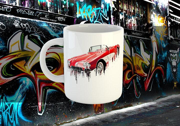 Chevrolet Corvette Liquid Metal Chevrolet Liquid Metal Corvette Mug