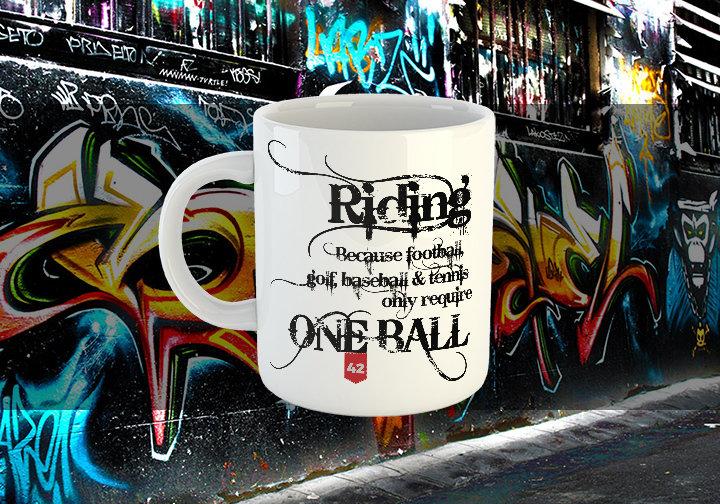 Riding One Ball Chest Candy One Ball Riding Mug