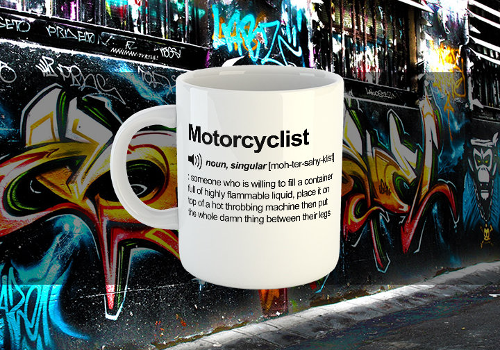 Motorcyclist Definition Chest Candy Motorcyclist Mug