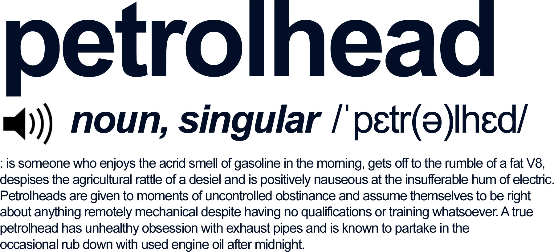 Petrolhead Definition
