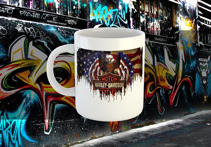 Harley Davidson Liquid Metal Mug Harley Davidson Liquid Metal Flag Mug