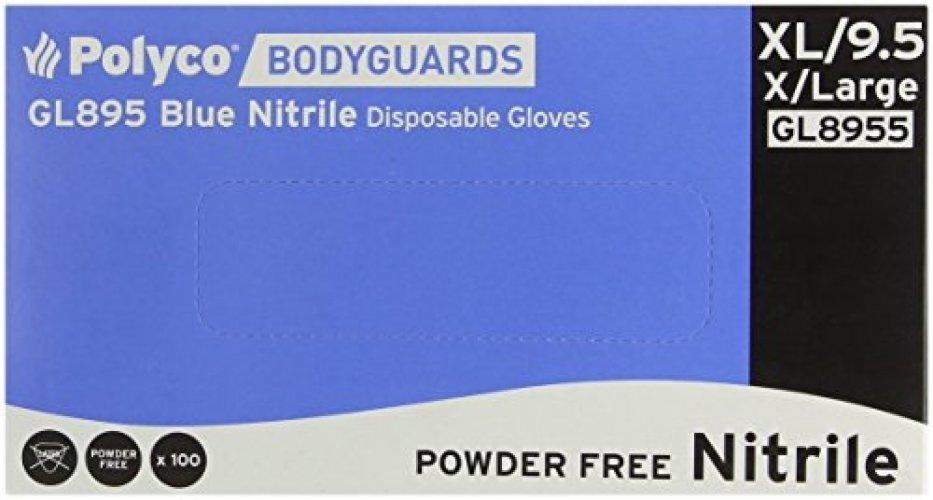 PolyCo Nitril Blue Gloves Box 100