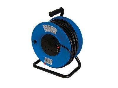 Power Master Cable Reel 240V Freestanding 13A 50m 4 Socket