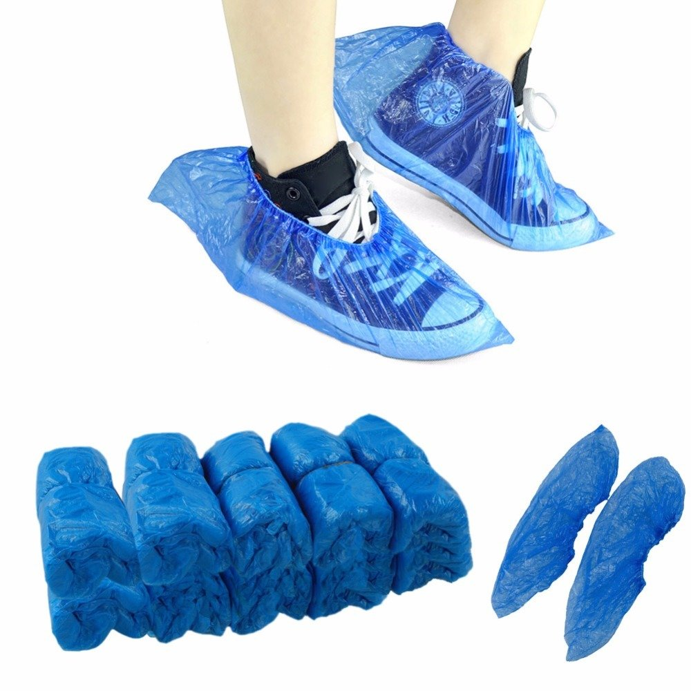 DISPOSABLE SHOE COVERS PACK 100