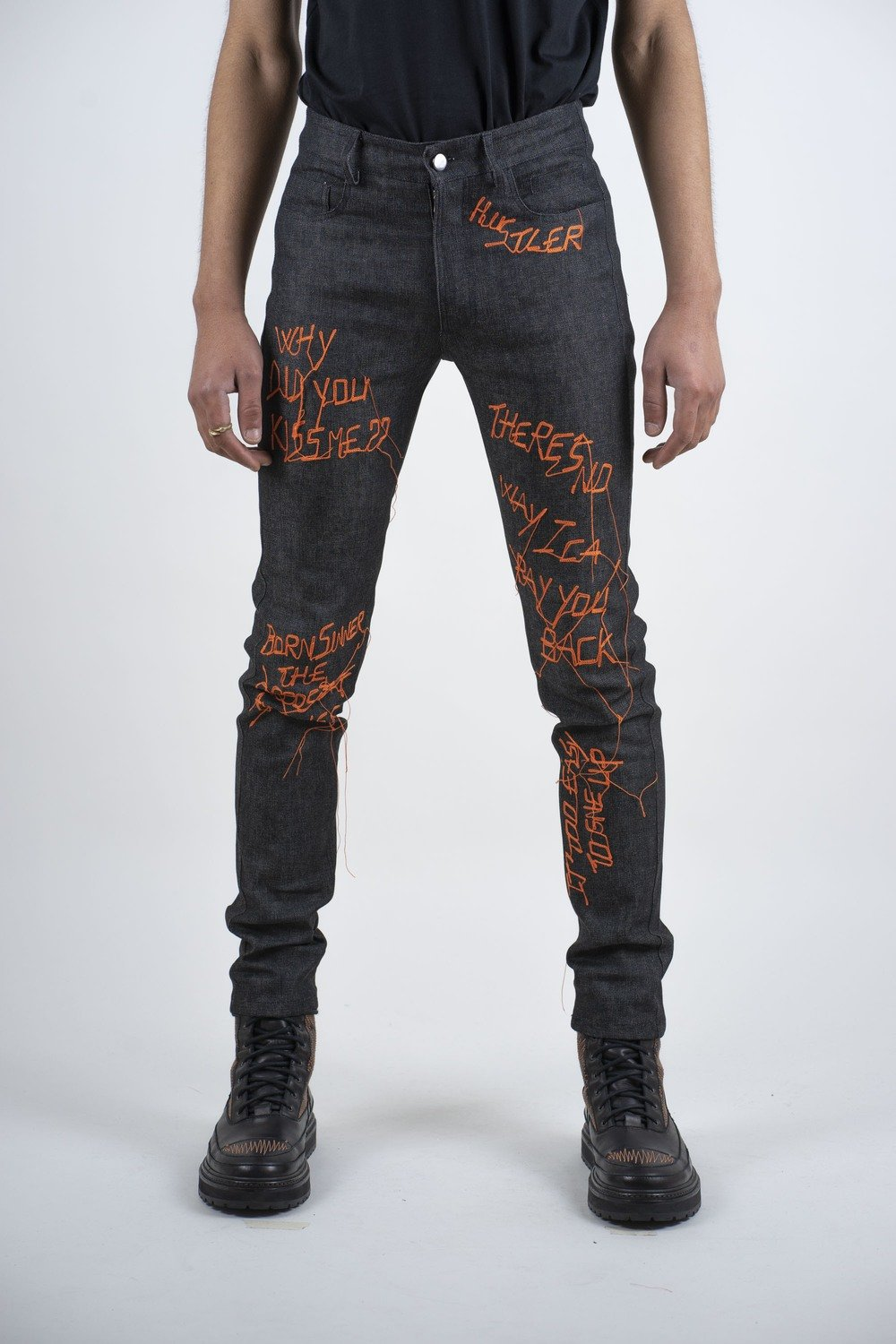 """""""ALL-OVER"""" EMBROIDERED DENIM"""