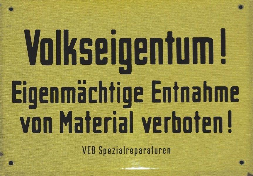 "Postkarte ""Volkseigentum"""