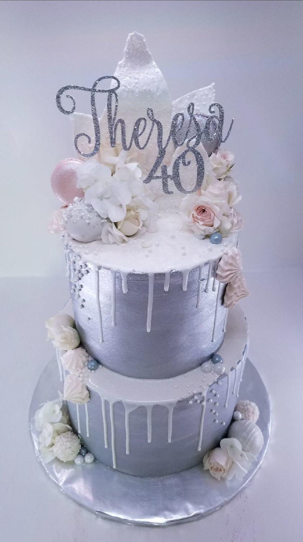 Frozen Drip w/ Custom Cake Topper