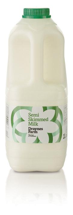 Draynes Farm Semi Skimmed Milk 2lt