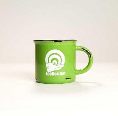 Green Distressed Campfire Mug - 15oz