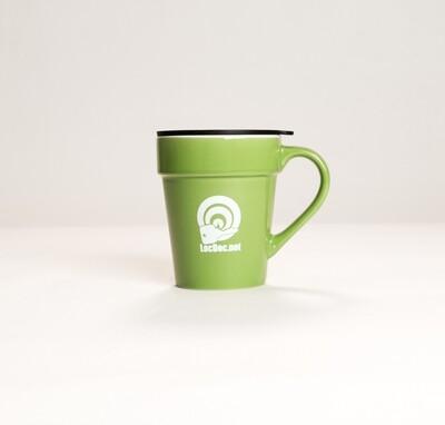 Terra Cotta Planter Inspired Mug with Lid - 10oz