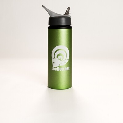 Matte Green Aluminum Sport Water Bottle with Straw - 24oz