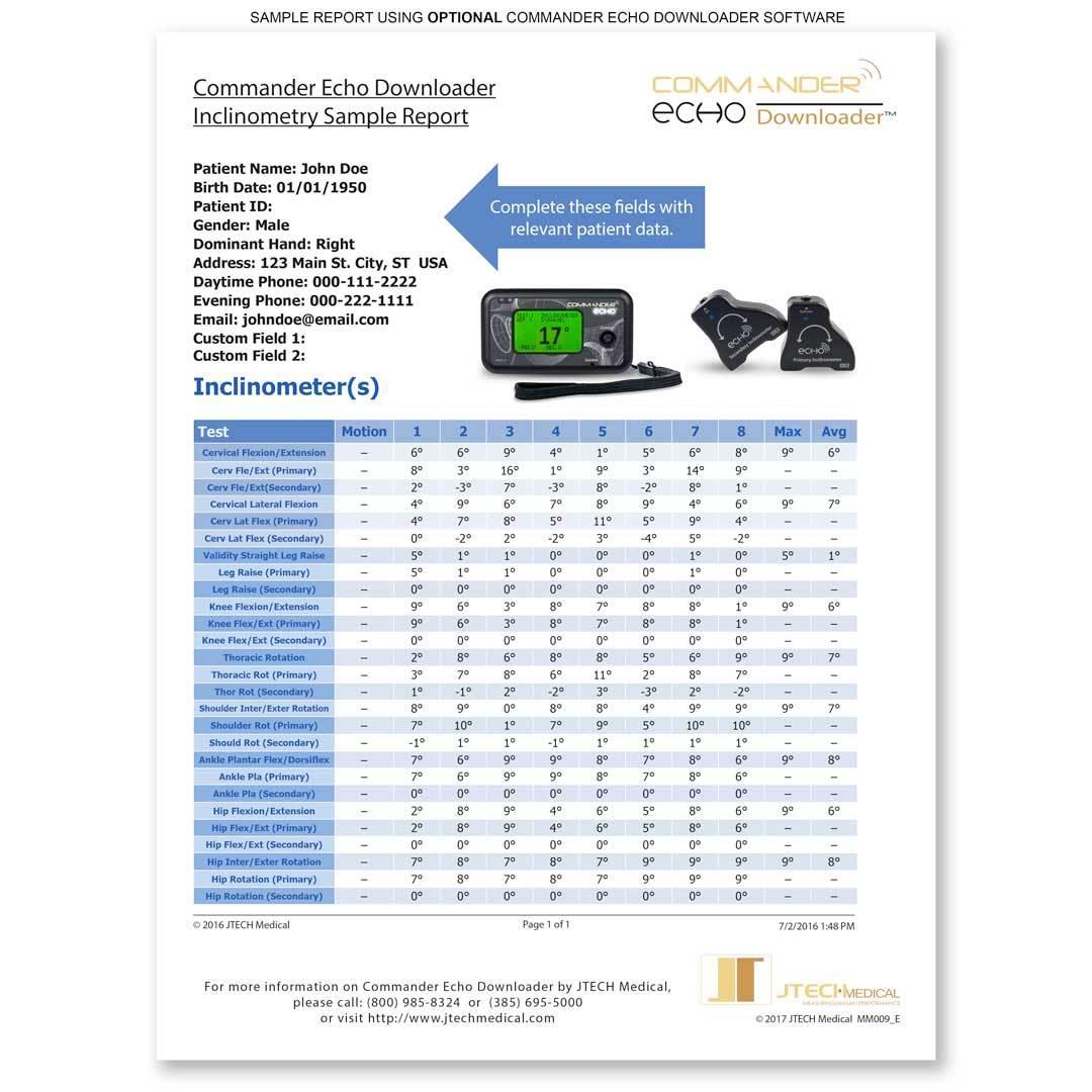 Commander Echo Inclinometry Starter Kit