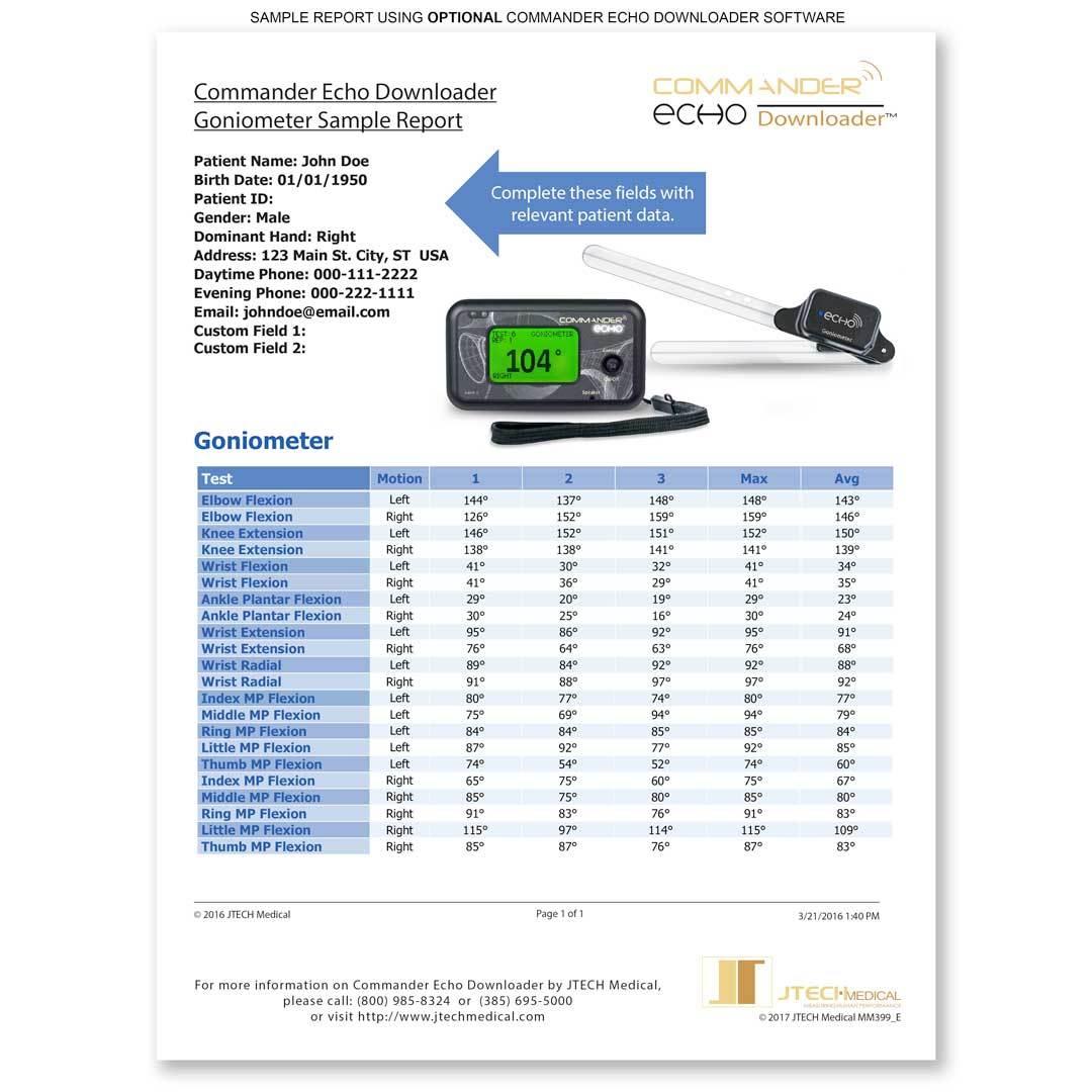 Commander Echo Goniometry Starter Kit