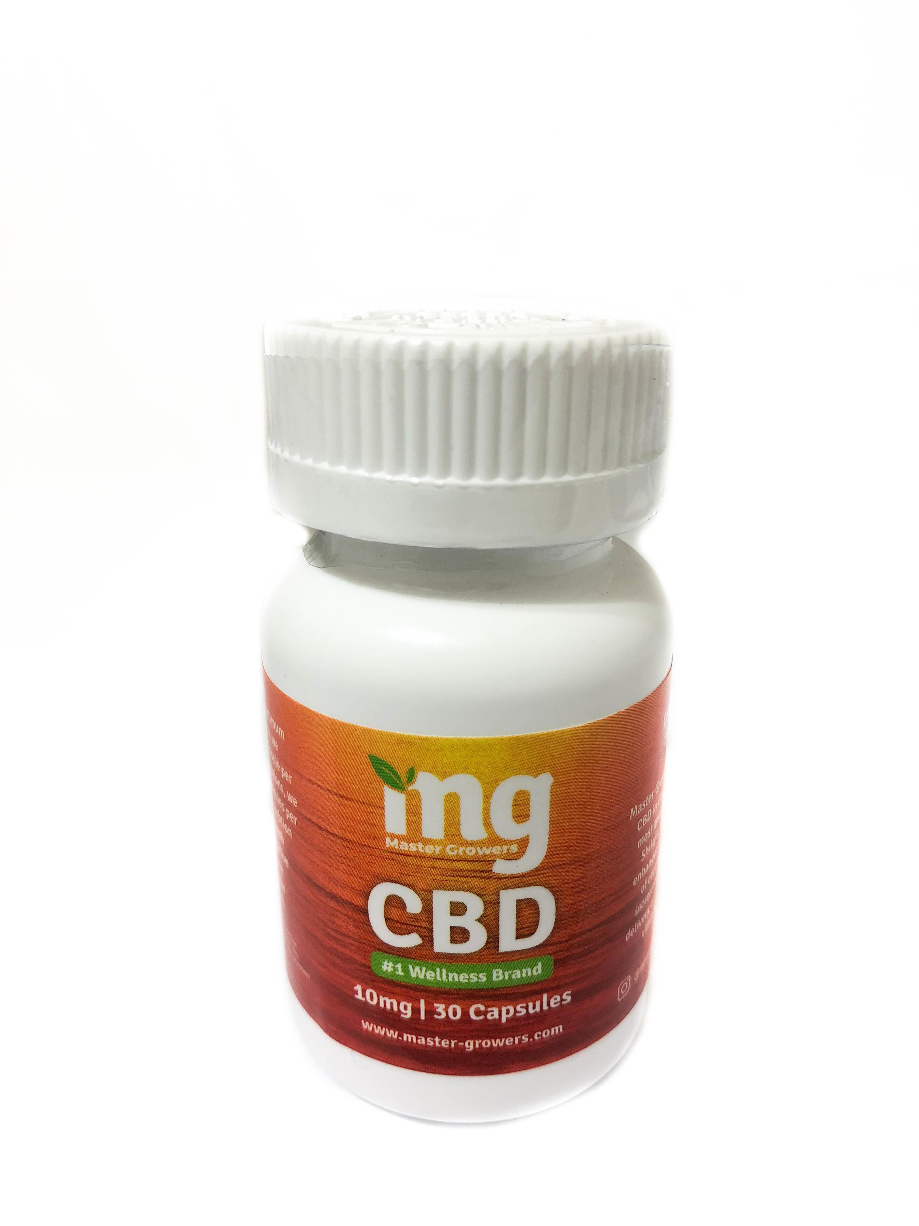 Master Growers: CBD Cannabidiol Capsules 10MG 30ct 02