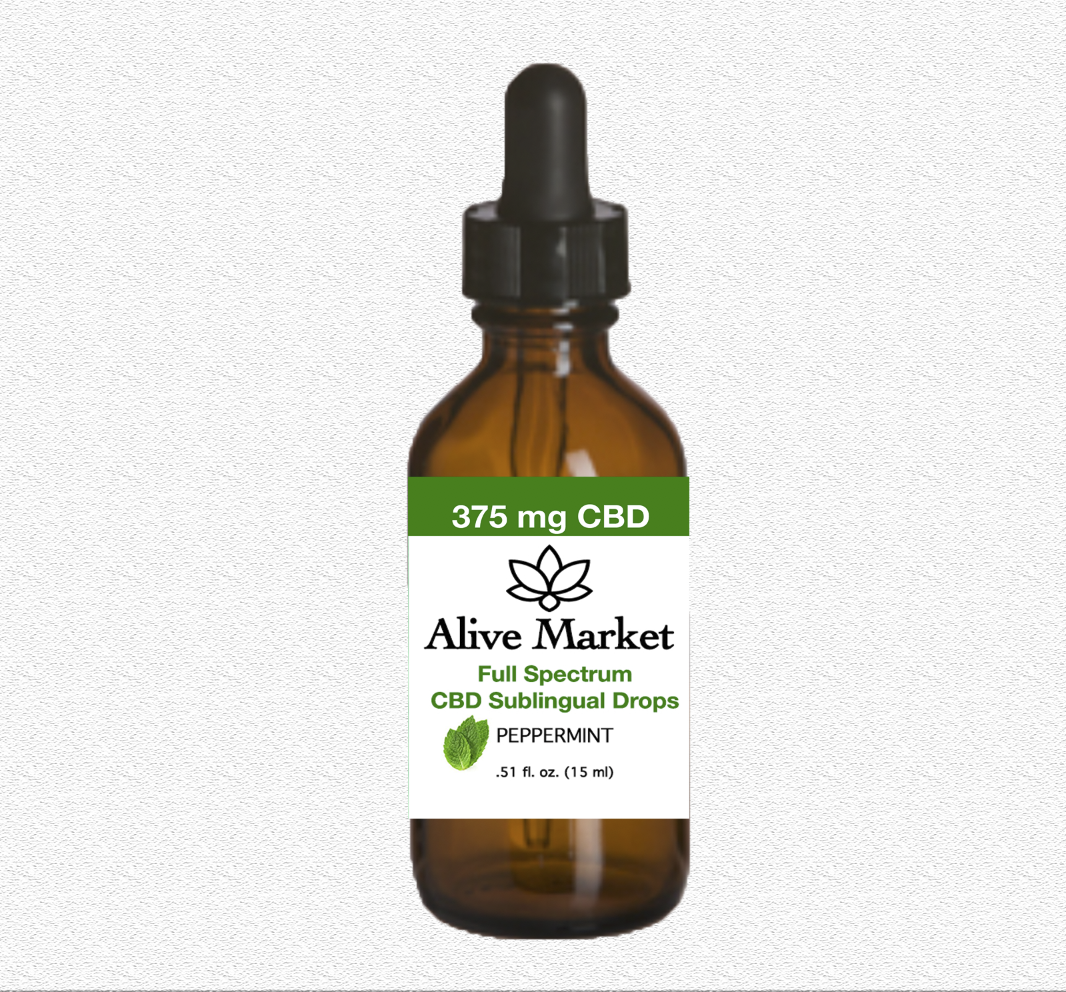 Alive Market Full Spectrum CBD Oil Drops 300 mg Peppermint 00003