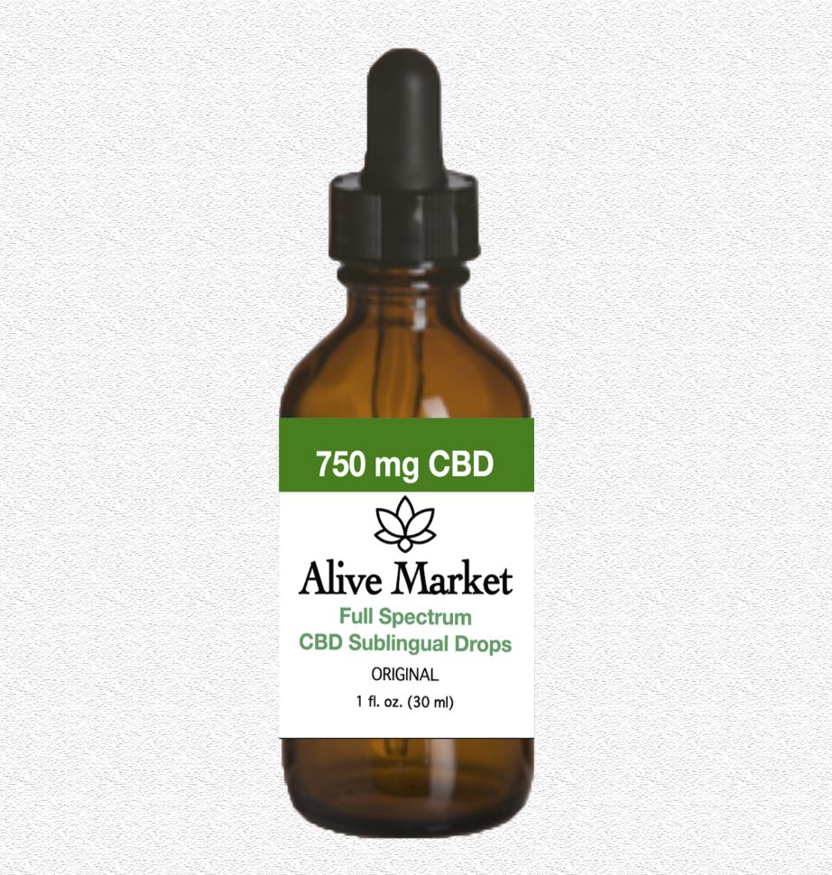 Alive Market Full Spectrum CBD Oil Drops 750 mg Original 00004