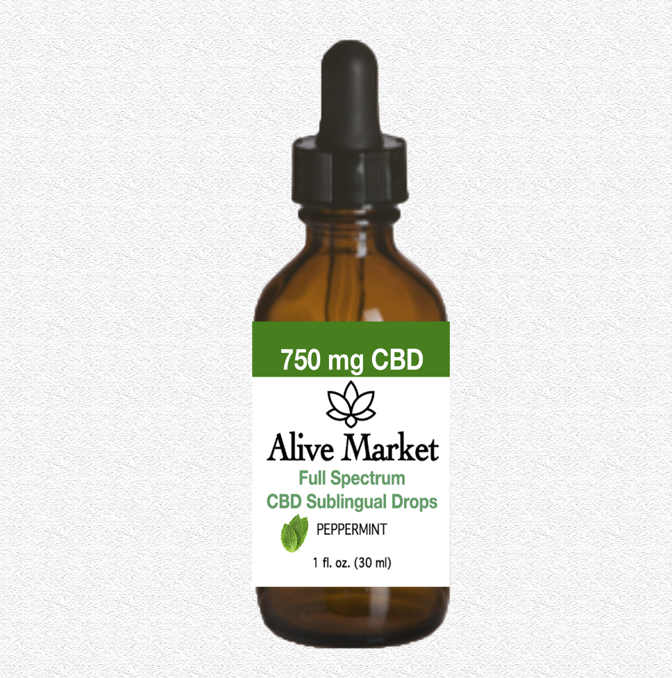 Alive Market Full Spectrum CBD Oil Drops 750 mg Peppermint 00005