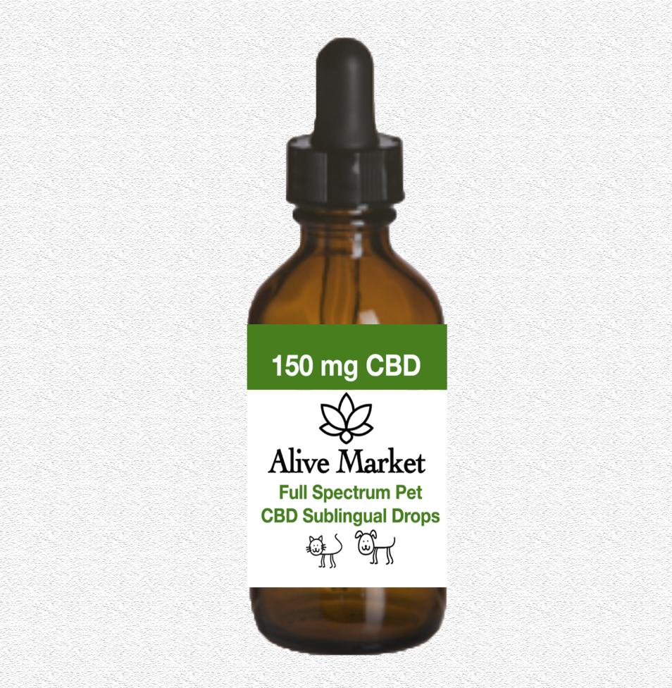Alive Market Pet Full Spectrum CBD Oil Drops 150 mg 00006