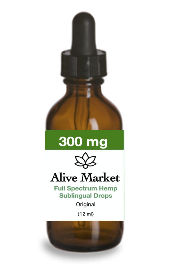 Alive Market Full Spectrum CBD Oil Drops 300 mg Original 00002
