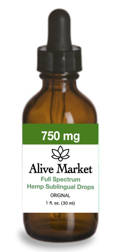 Alive Market Full Spectrum CBD Oil Drops 750 mg Original 00004