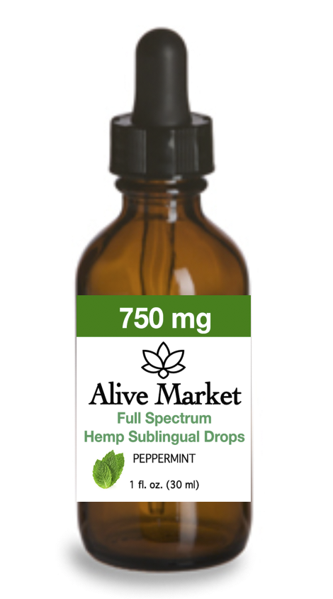 Alive Market Full Spectrum CBD Oil Drops 750 mg Peppermint 00005