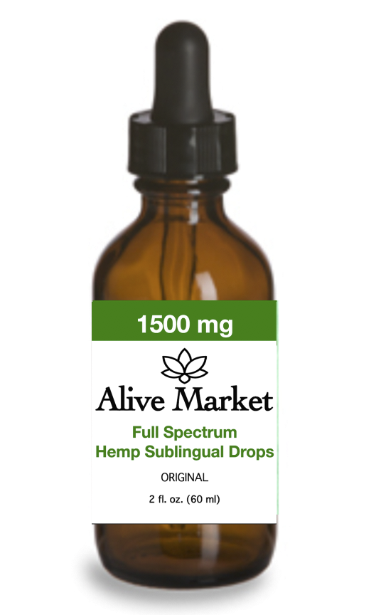 Alive Market Full Spectrum CBD Oil Tincture Drops 1500 mg Original 00000