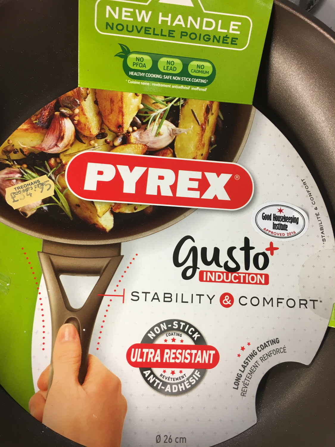 Pyrex Gusto Frying Pan 26cm Non-stick Coating Cookware