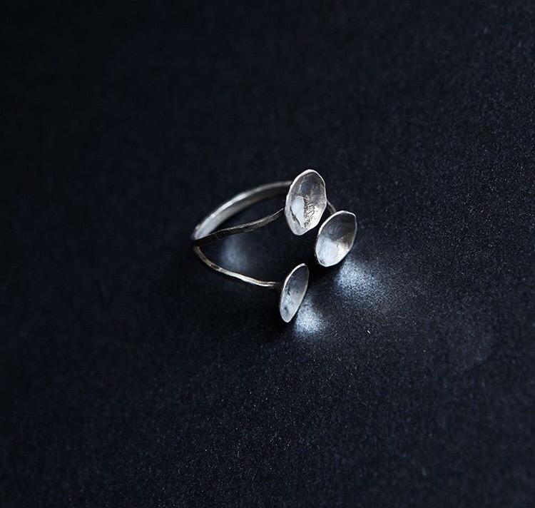 Серебряное разъёмное кольцо