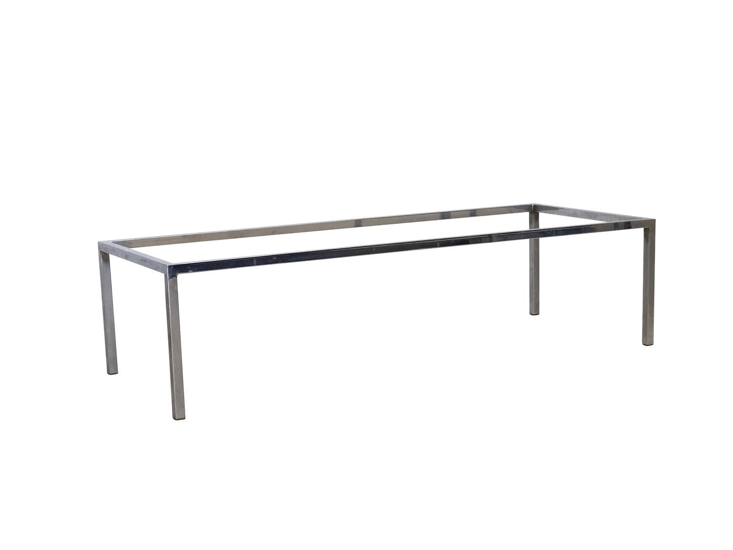 Mid Century Modern Long Chrome Coffee Table Base