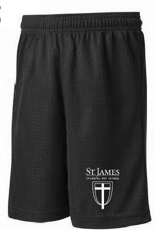 Boys Navy & White Logo Shorts - Youth X-Small