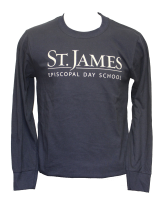 L/S Navy Spirit T-Shirt - Youth Medium